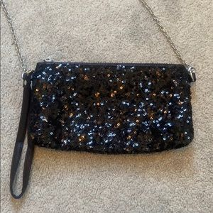 Charming Charlie Black Sequin Small Purse